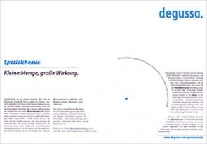 Anzeigenmotiv aus Degussa Imagekampagne