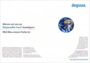 Anzeigenkampagne Degussa mit insg. 25 Motiven