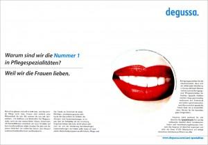 Anzeigenkampagne Degussa, 25 Motive