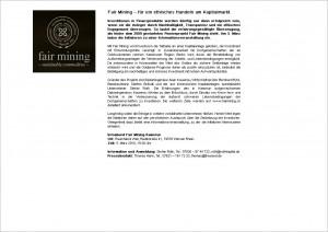Pressemitteilung für die Fair Mining GmbH, Text von FRAU BUSSE.txt