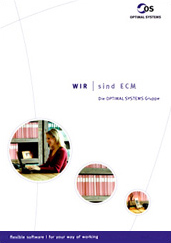 Cover der Imagebroschüre von OPTIMAL SYSTEMS, Texte von FRAU BUSSE.txt