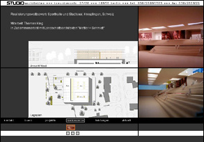 Screenshot der Website von STUDIOarchitekten