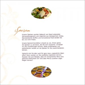 Imagebroschüre united catering services