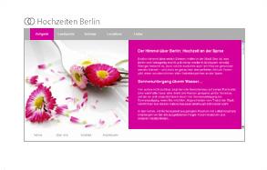 Screenshot der Website von Hochzeiten Berlin (UCS) mit Webtext von FRAU BUSSE.txt