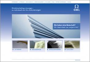Screenshot der Website von OML GmbH & Co. KG mit Webtext von FRAU BUSSE.txt