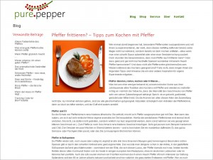 Blog-Texte für Pure Pepper Collection (www.purepepper.de)