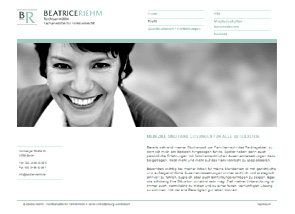 Screenshot Website Kanzlei Beatrice Riehm
