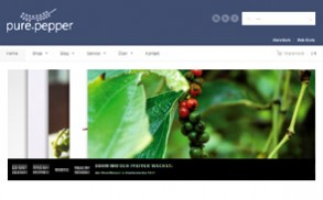 Screenshot der Website von Pure Pepper Collection