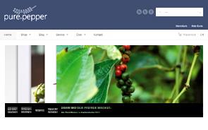 Screenshot der Website von Pure Pepper Collection